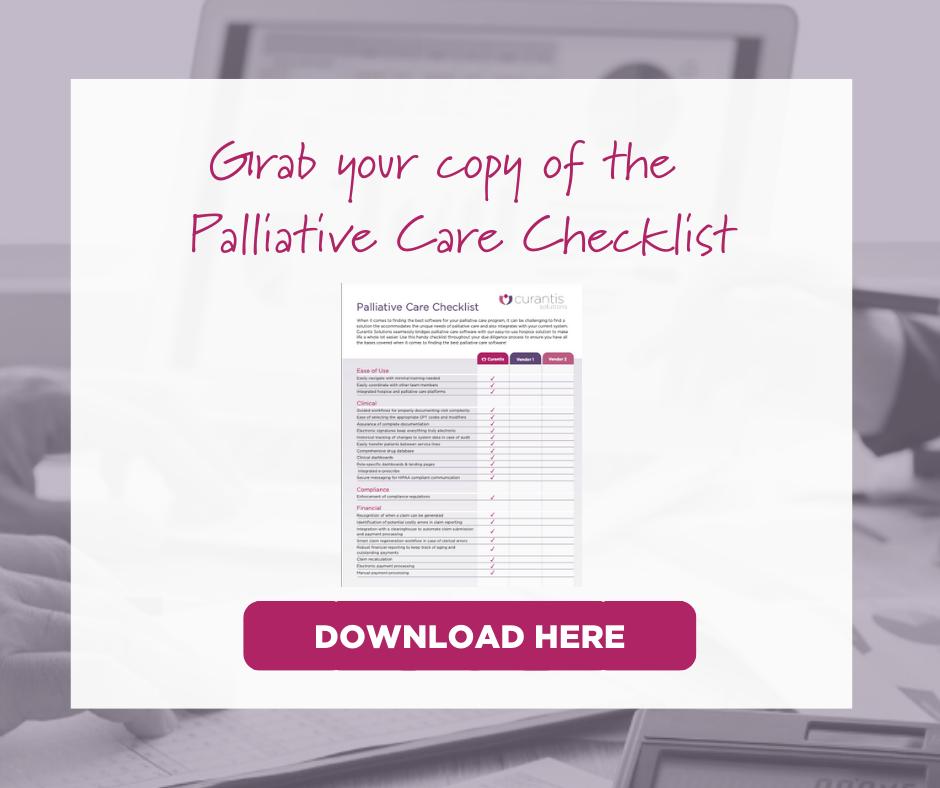 Palliative Care Checklist